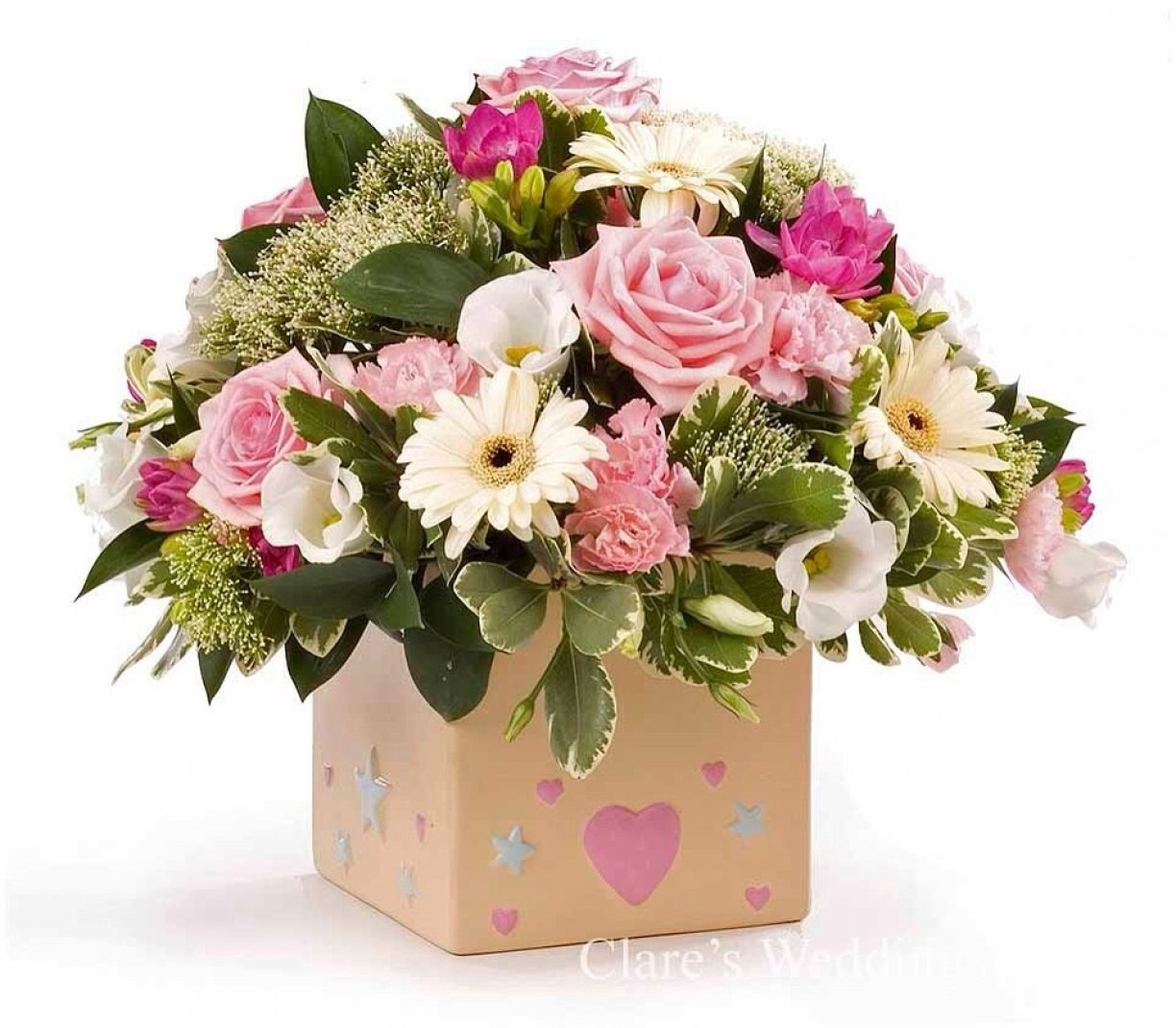 Flowers arranged & gift wrapped in a box or bag!