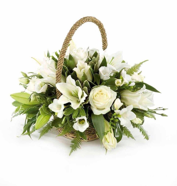 Your chosen flowers arranged in a beautiful hand held wicker basket!