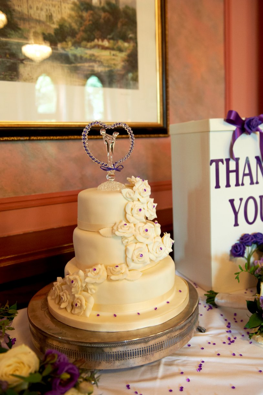 Three layer White Chocolate Wedding Cake